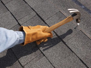 Roof shingle installation