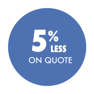 Save 5% less on quote