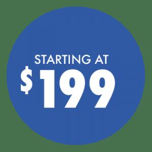Starting at $199