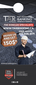 Top Advanced Ranking residential and commercial. The shingles specialists. FREE quote 613-606-5171. Refer us and get $150