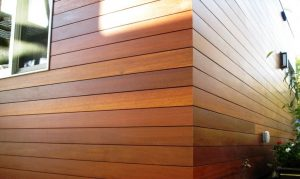 Wood siding replacement on a home