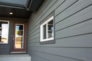 Home siding on a new home