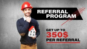 Roofing and siding referral program - Get up to $350 per referral